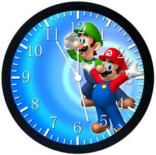 Super Mario Luigi Black Frame Wall Clock Nice For Decor or Gifts W234