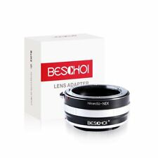 Beschoi Lens Adapter Ring for Nikon Nikkor F G Lens to Sony NEX E Mirrorless