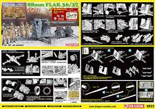 Dragon 6923 1/35 German 88mm FlaK 36/37 2In1 Anti Aircraft GunPlastic Model Kit◆