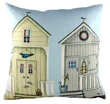 "17"" Two Beach Huts Sally Swannell Cushion Evans Lichfield DPA279 43cm Nautical"
