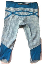 LULULEMON Run Pace Crop Pants size 4 Wee Are From Space Aquamarine Blue Running