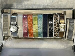 Gossip Quartz Watch Set.2 watches, 12 Interchangeable Bands. Original Box