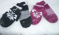 Warme  Winter Handschuhe Gr. M/L Norweger Fäustlinge gefüttert Farb Auswahl Neu