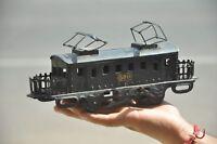 Vintage Wind Up No.500 Litho Black Tram/Cable Car Tin Toy, Japan