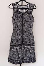 Reiss stretch dress, size 10, EU 38 black & white