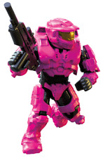 Halo Mega Construx A New Dawn Series UNSC Pink Spartan Mark VI with Battle Rifle