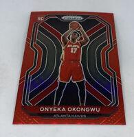 2020-21 Panini Prizm Onyeka Okongwu Red Prizm REFTACTOR #218/299 Hawks