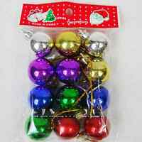12Pcs Mixed Colour Christmas Tree Baubles