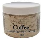 COFFEE Exfoliating Foaming Sugar Body Scrub, 10 oz jar