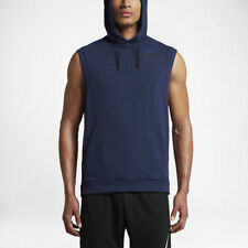 Men's Nike Dri Fit Sleeveless Training Pullover Hoodie 742618 429 NEW Size XL