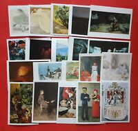 Set of 20 Different Art Postcards, Whistler, Fry, Wood, Corinth, Gertler, Peploe