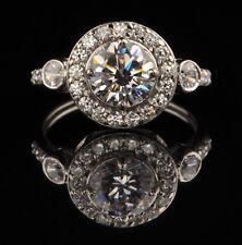 Unique Deigns 3.00 Carat Round Shape 14KT White Gold Solitaire Engagement Ring