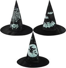 Single Children's Kid's Witch Hat With Printed Design (Various)