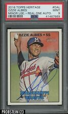 2016 Topps Heritage Real One Ozzie Albies RC Rookie AUTO Braves PSA 9 MINT