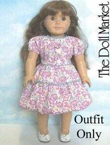 "New ""Purple Flower Bubble Dress""  #85975L fits 18"" American Girl Dolls"