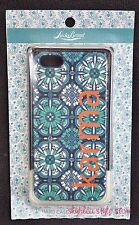 Lucky Brand Hard Case for iPhone 5 KARMA Blue Green Fashion Statement New