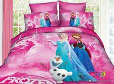 Disney Frozen Elsa Anna Olaf Cotton DuvetCover Not comforter Sheet Bed Set Queen