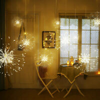 Firework LED Copper Wire LED Fairy Strip String Lights w/Remote Control Xmas