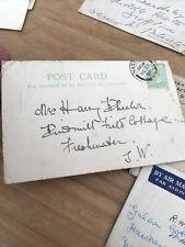 More details for collection of old stamped envelopes c1910's onwards -some war service letter ?