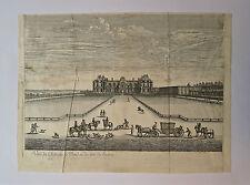 Eau-Forte, Chateau de Meudon du coté de l'entrée, I. Sylvestre, XVIIème