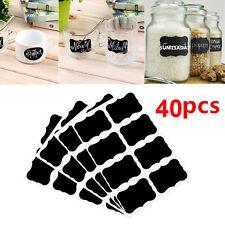 40pcs Chalkboard Blackboard Stickers Labels for Mason Jar Canning Wedding Party