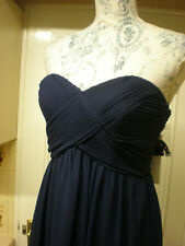Beautiful BHS Darcy navy blue chiffon bridesmaid occasion party dress size 8