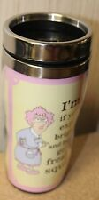 NEW AUNTY ACID HUMOROUS FUNNY TRAVEL COFFEE MUG IF YOURE EXPECTING BRIGHT EYED..
