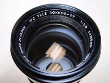 EXC++  MINOLTA MC TELE ROKKOR PF 1:2.8 135mm Lens From Japan #110