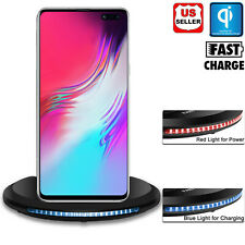 For Samsung Galaxy Note 20 10 S20+ Qi Wireless Fast Charger Charging Stand Dock