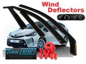 For TOYOTA Prius Plus  2011 ->  5D Wind deflectors  4.pc HEKO 29653