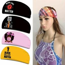 Black Lives Matter Headband Women Men Sweatbands Afro Hair Band Elastic Bandana