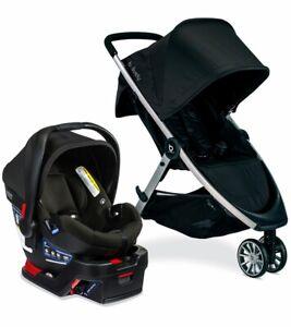 Britax B-Lively & B-Safe Gen2 Travel System - Eclipse Black  - SafeWash Fabric