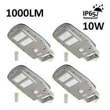 4x Solar Street Lamp Outdoor 1000 lm with Remote Dusk to Dawn Pir Sensor 30 Led