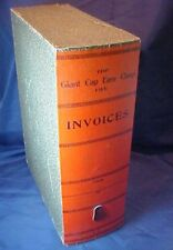Vintage Giant Cap Easy Clasp File Invoices File System Large Decorative Book