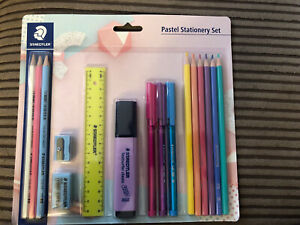 Staedtler Noris Pastel Super Stationery Set - 16 Piece- Brand New High School