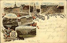 1895 Gruss aus Frankenberg Sachsen Litho-AK Mehrbildkarte nach Döbeln gelaufen
