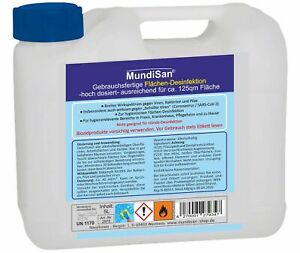 MundiSan® 5L Flächendesinfektionsmittel, wirksam gegen SARS- CoV-2  70% ALKOHOL