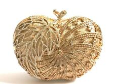 Apple ~ Gold ~ Handmade Austrian Crystal Evening Clutch Purse Cocktail Bag