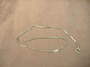 """VINTAGE 14K  YELLOW GOLD WATCH CHAIN - 13 1/2"""" - 8.2 GRAMS"""