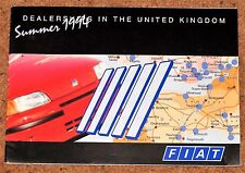 1994 FIAT DEALERS in the UNITED KINGDOM Sales Brochure/Map
