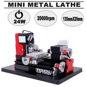 Mini Metall Drehbank Machine DIY Drehmaschine Model Tooling Holzbearbeitung 24W