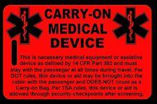 Hi-Viz Red Carry-On Medical Device Bag Tag - TSA - CPAP BiPAP APNEA POC