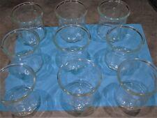 Lot de 9 pot à confiture en verre à facettes