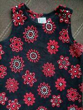 Girls Hanna Andersson black sleeveless jumper dress size 120 6/7