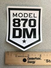 REMINGTON MODEL DM 870 STICKER HUNT GUN FIREARM *NICE* ORIGINAL SHOTGUN