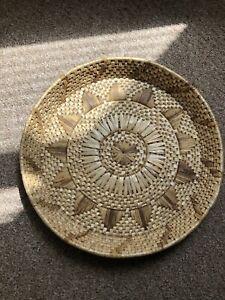 Woven Wicker Tray Basket