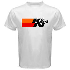 K&N Performance Air Filters Automotive Auto Motor Super Car Men's White T-shirt