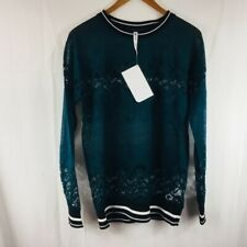 93aac1288b1 Fabletics Green Lace Sophie Tunic Long Sleeve Top Size XS  70