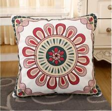 Moroccan Embroidered Cushion Cover. blush pink, cream, duck egg blue