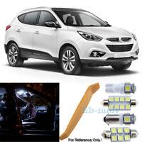 For 2009-2018 Hyundai IX35 LED Interior Kit 7 Bulb Premium Set White For Tucson